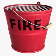 Secchio di fuoco 3d model