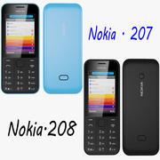 Nokia 207 Nokia 208 3d model