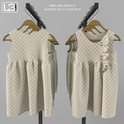 Sukienka Baby Girl 01 3d model