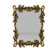 Carved Wall Mirror 3d model
