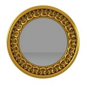 Carved Round Wall Mirror 3d model