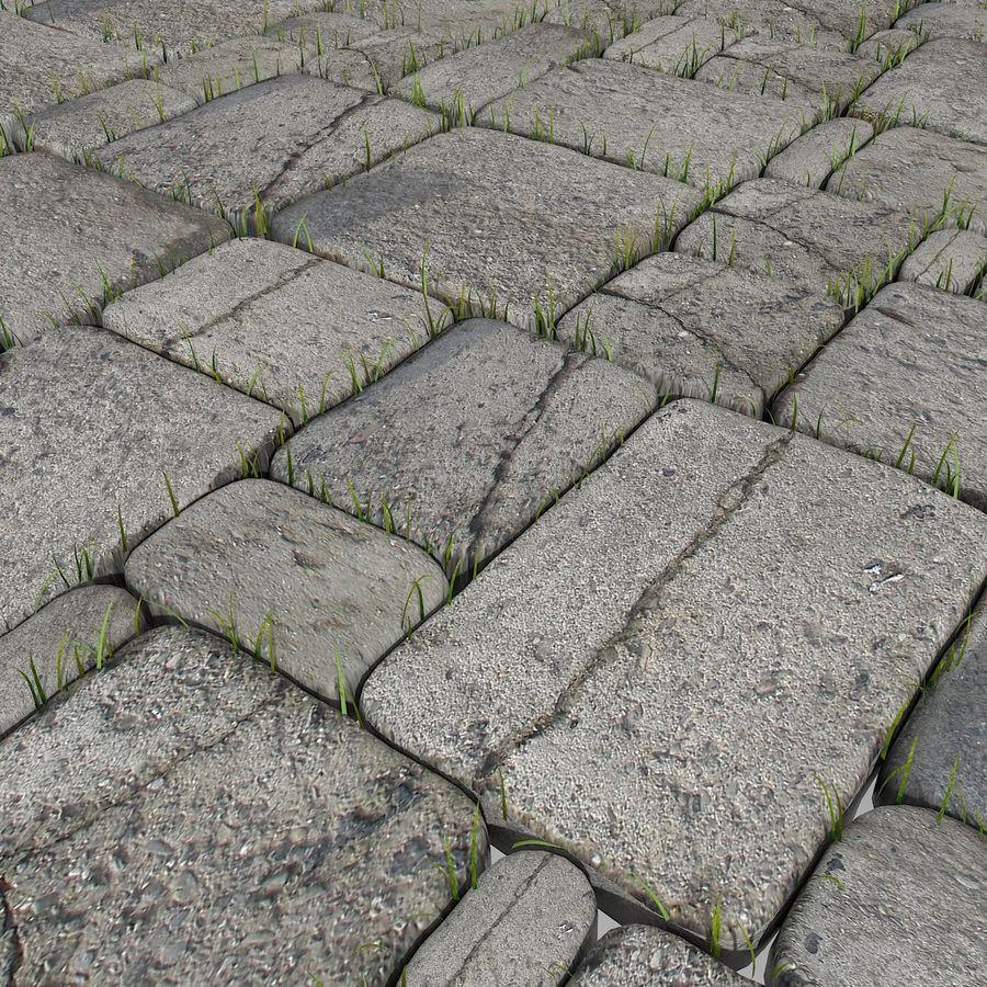Pavimentazione in pietra Pavimenti in erba Parco giardino ristorante esterno esterno posto a sedere all'aperto posizione terrazza andato desolato abbandonato abbandonato abbandonato muschio pianta campagna royalty-free 3d model - Preview no. 4