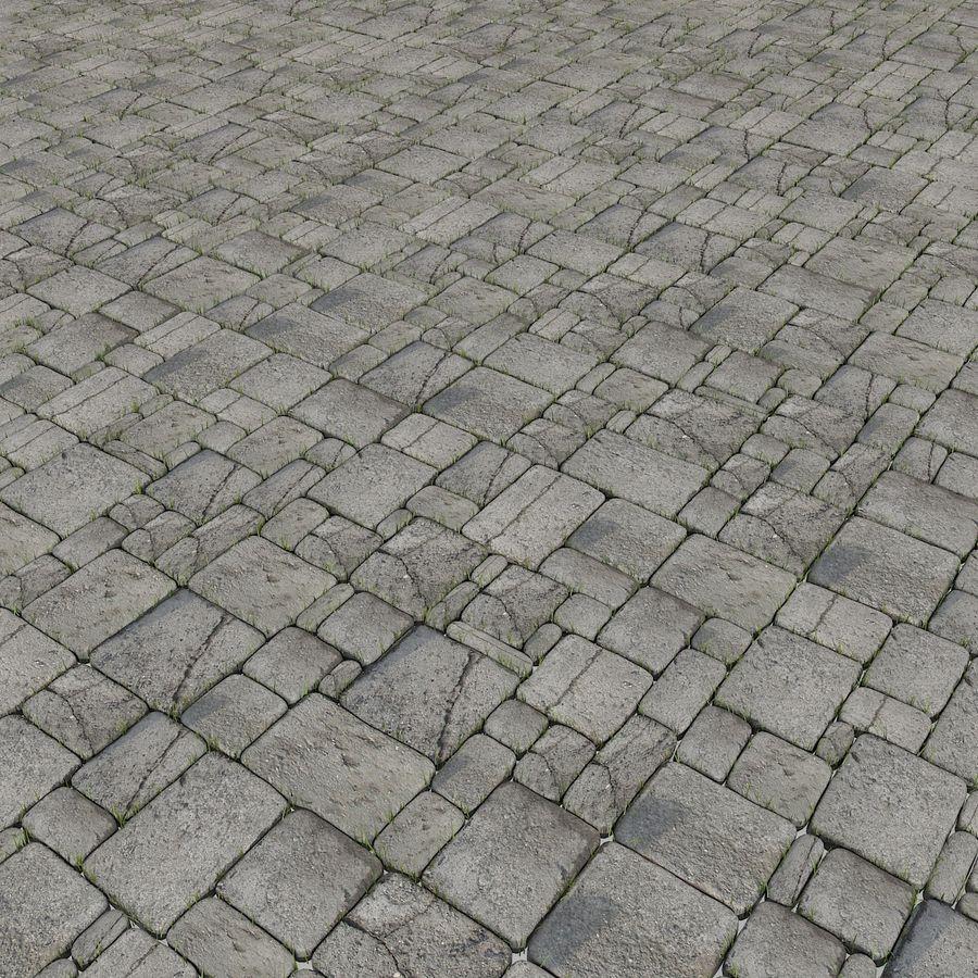 Pavimentazione in pietra Pavimenti in erba Parco giardino ristorante esterno esterno posto a sedere all'aperto posizione terrazza andato desolato abbandonato abbandonato abbandonato muschio pianta campagna royalty-free 3d model - Preview no. 3