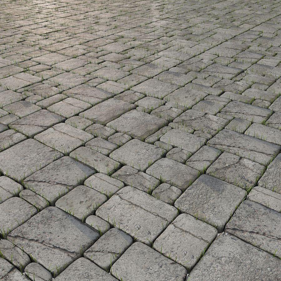 Pavimentazione in pietra Pavimenti in erba Parco giardino ristorante esterno esterno posto a sedere all'aperto posizione terrazza andato desolato abbandonato abbandonato abbandonato muschio pianta campagna royalty-free 3d model - Preview no. 10