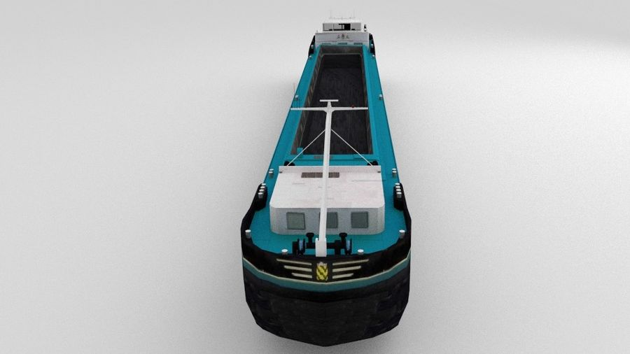 Cargo Ship royalty-free 3d model - Preview no. 9