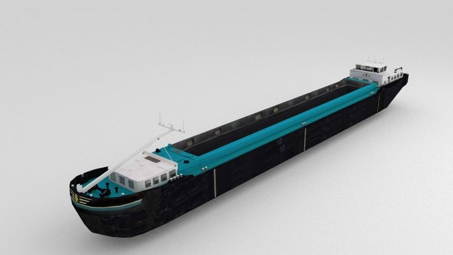 Cargo Ship royalty-free 3d model - Preview no. 1