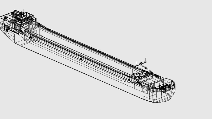 Cargo Ship royalty-free 3d model - Preview no. 13