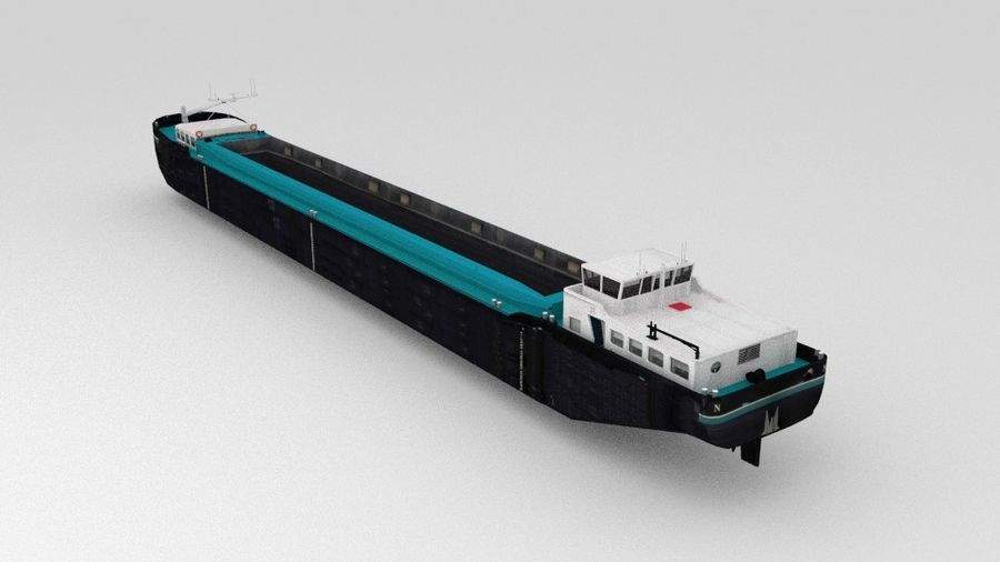 Cargo Ship royalty-free 3d model - Preview no. 5