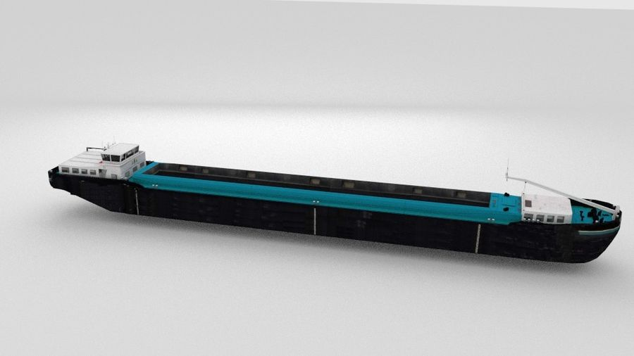 Cargo Ship royalty-free 3d model - Preview no. 2