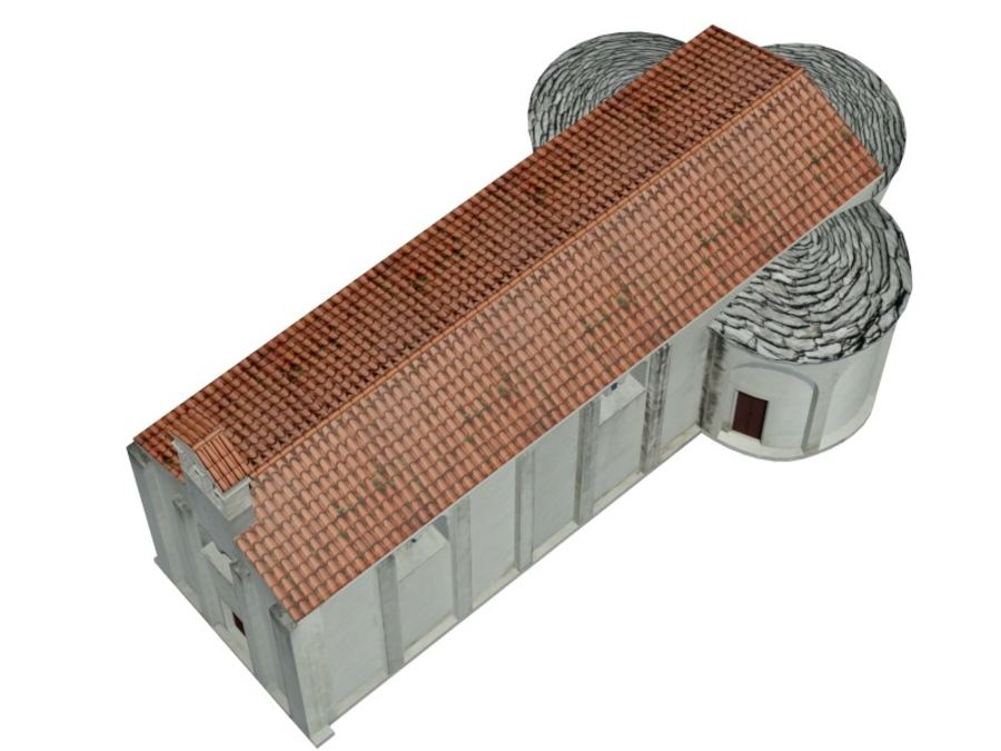 Kościół VI wieku royalty-free 3d model - Preview no. 10