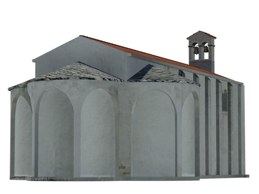 Kościół VI wieku royalty-free 3d model - Preview no. 9