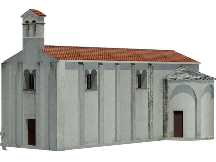 Kościół VI wieku royalty-free 3d model - Preview no. 2