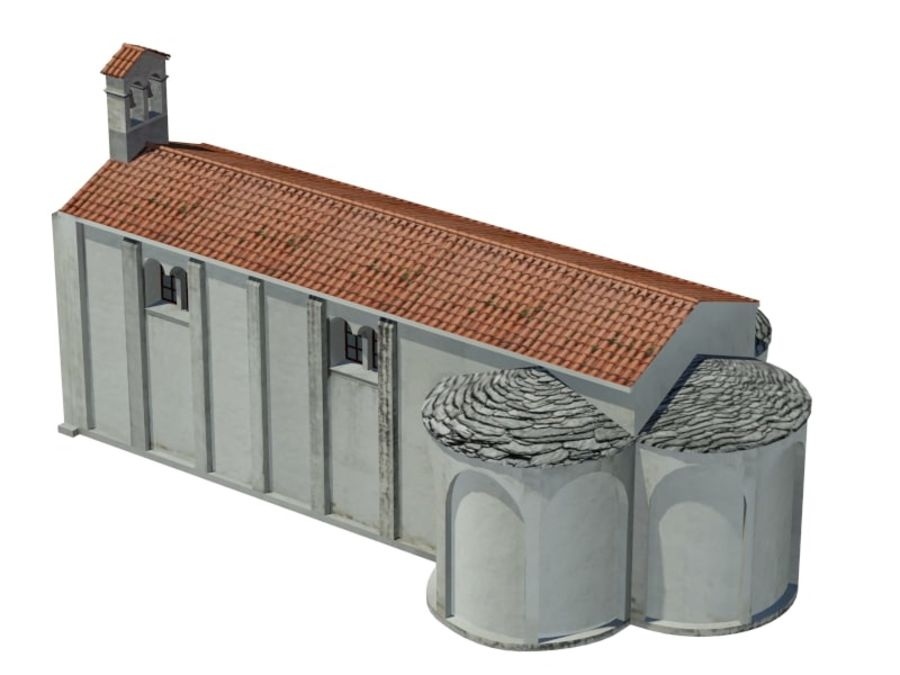 Kościół VI wieku royalty-free 3d model - Preview no. 7