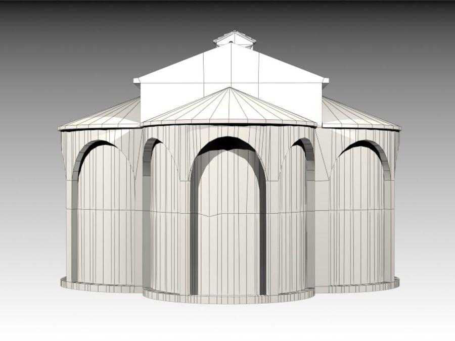 Kościół VI wieku royalty-free 3d model - Preview no. 12