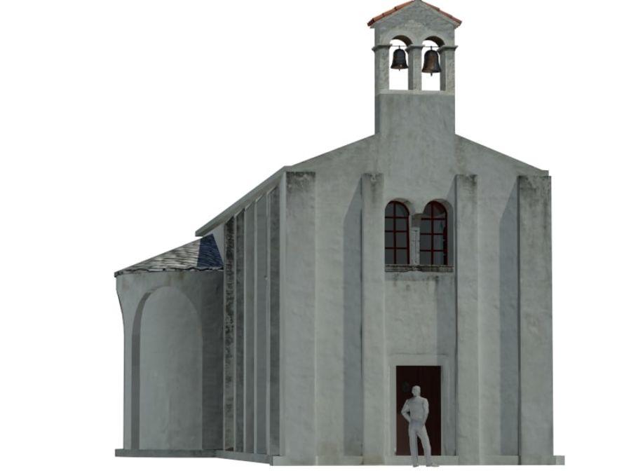 Kościół VI wieku royalty-free 3d model - Preview no. 1
