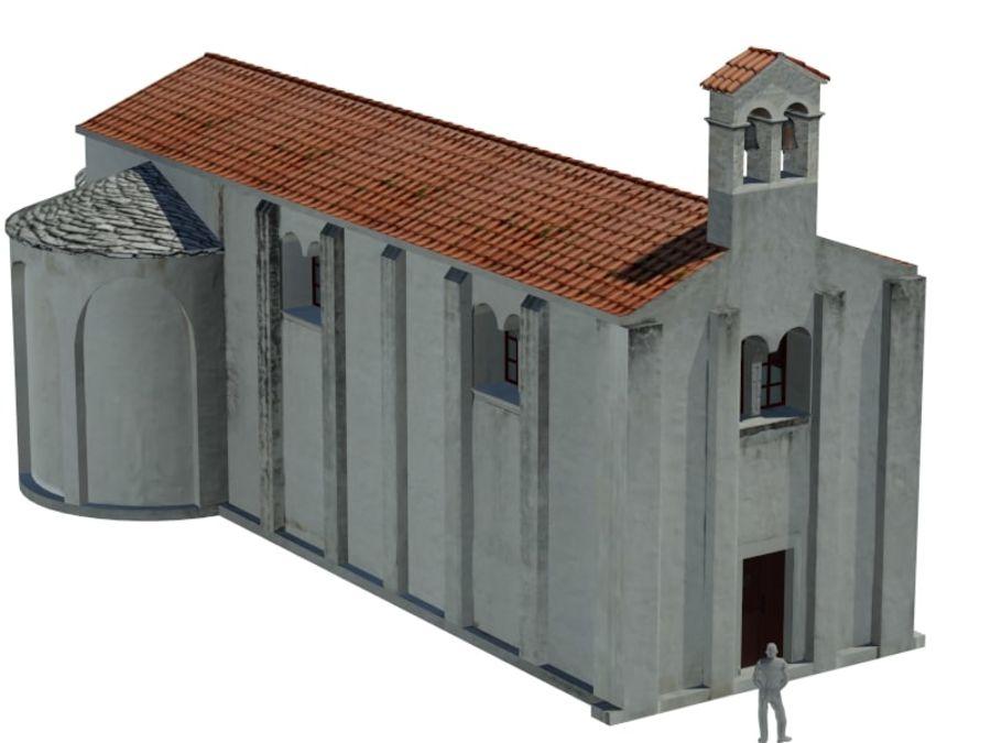 Kościół VI wieku royalty-free 3d model - Preview no. 5