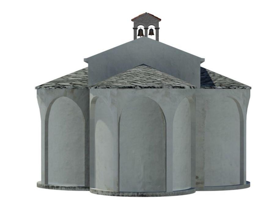 Kościół VI wieku royalty-free 3d model - Preview no. 8
