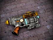 Steampunk - Pistola Nerf modelo 3d