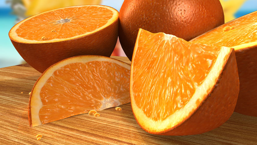 Oranges royalty-free 3d model - Preview no. 2