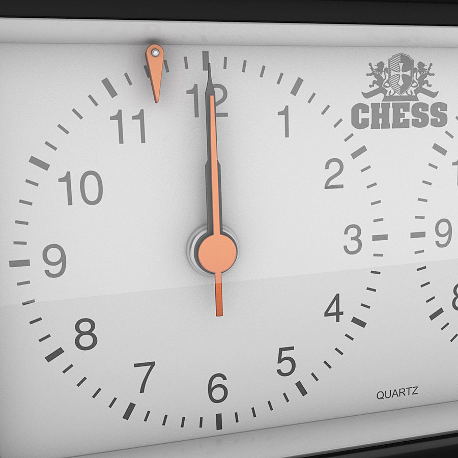 Analog Chess Timer royalty-free 3d model - Preview no. 4