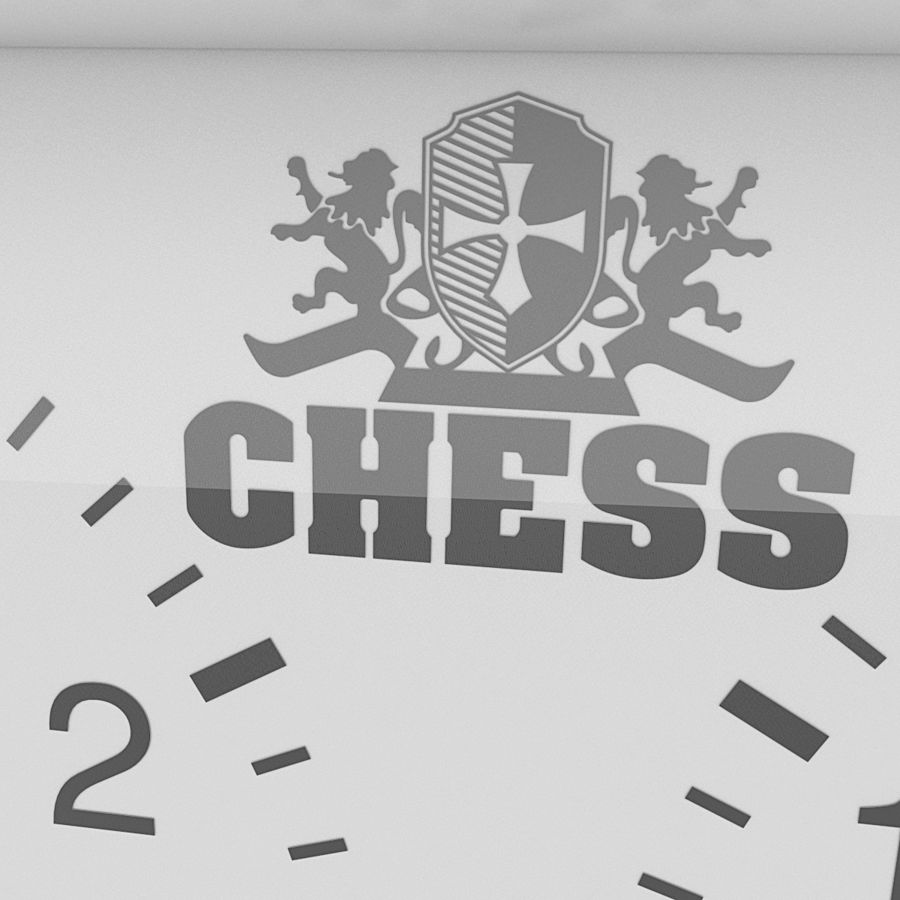 Analog Chess Timer royalty-free 3d model - Preview no. 5