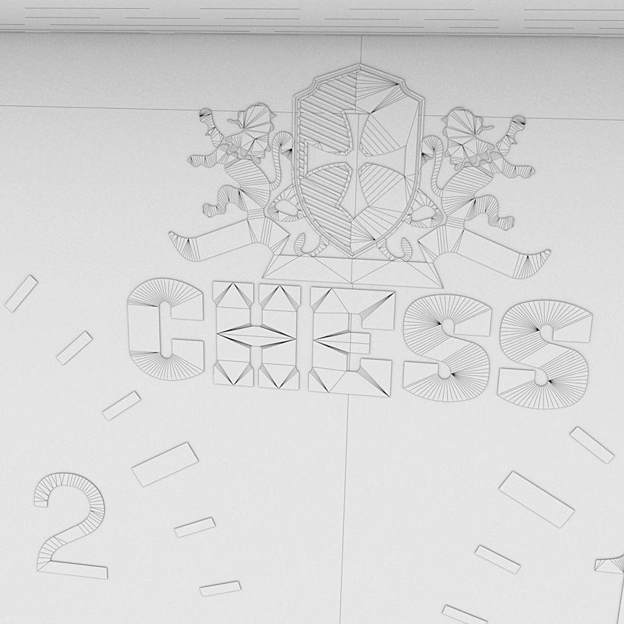 Analog Chess Timer royalty-free 3d model - Preview no. 8