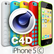 Apple iPhone 5C CINEMA 4D 3d model