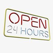 24時間営業のネオンサイン 3d model