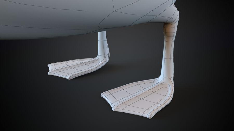 лебедь royalty-free 3d model - Preview no. 7