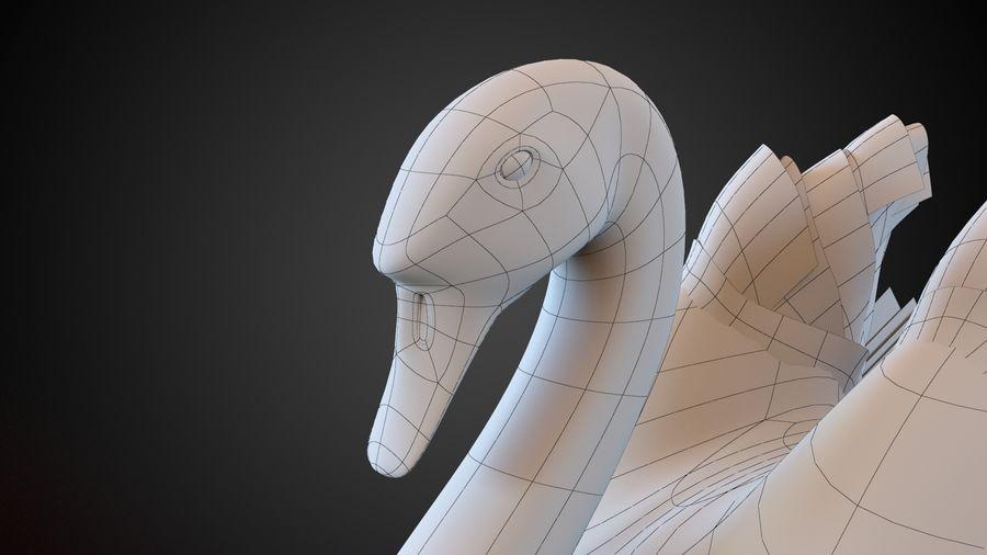 лебедь royalty-free 3d model - Preview no. 8