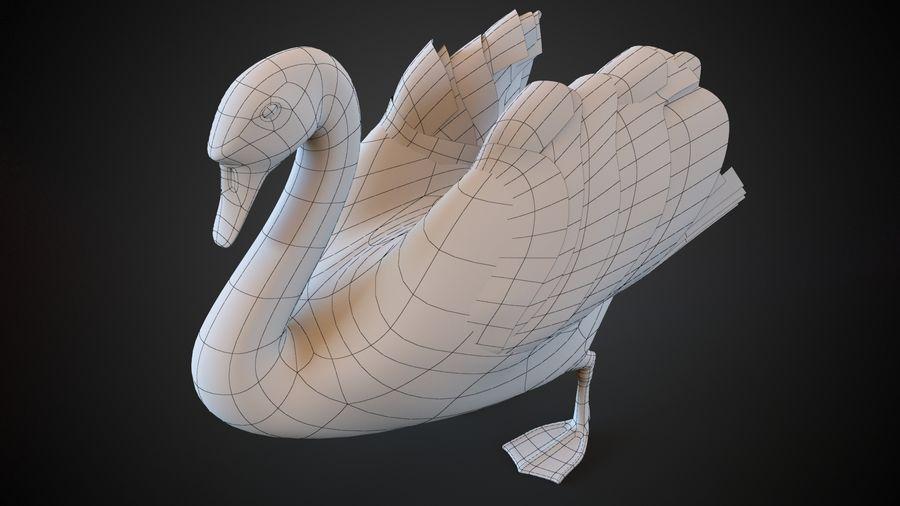 лебедь royalty-free 3d model - Preview no. 6
