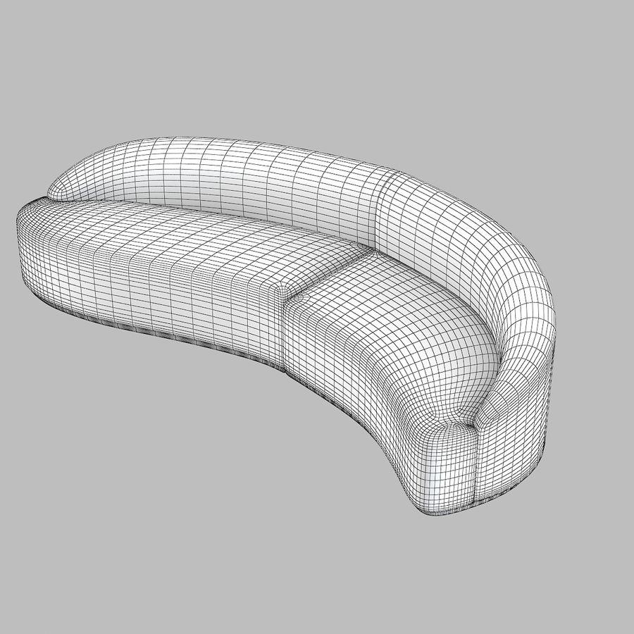 곡선 소파 royalty-free 3d model - Preview no. 5