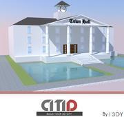 市庁舎(低ポリ)| CITID 3d model