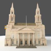 Edificio Histórico Low Poly modelo 3d