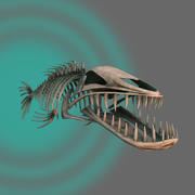 iskelet balık 3d model