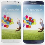 Samsung I9506 Galaxy S4 Zwart en Wit 3d model