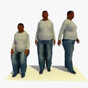 低ポリ脂肪男性バンドル 3d model