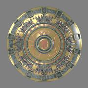Emblema del sol Inka / Aztek modelo 3d