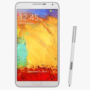 Samsung Galaxy Note 3 White Smartphone 3d model