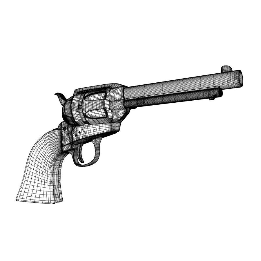 Colt Revolver royalty-free 3d model - Preview no. 5