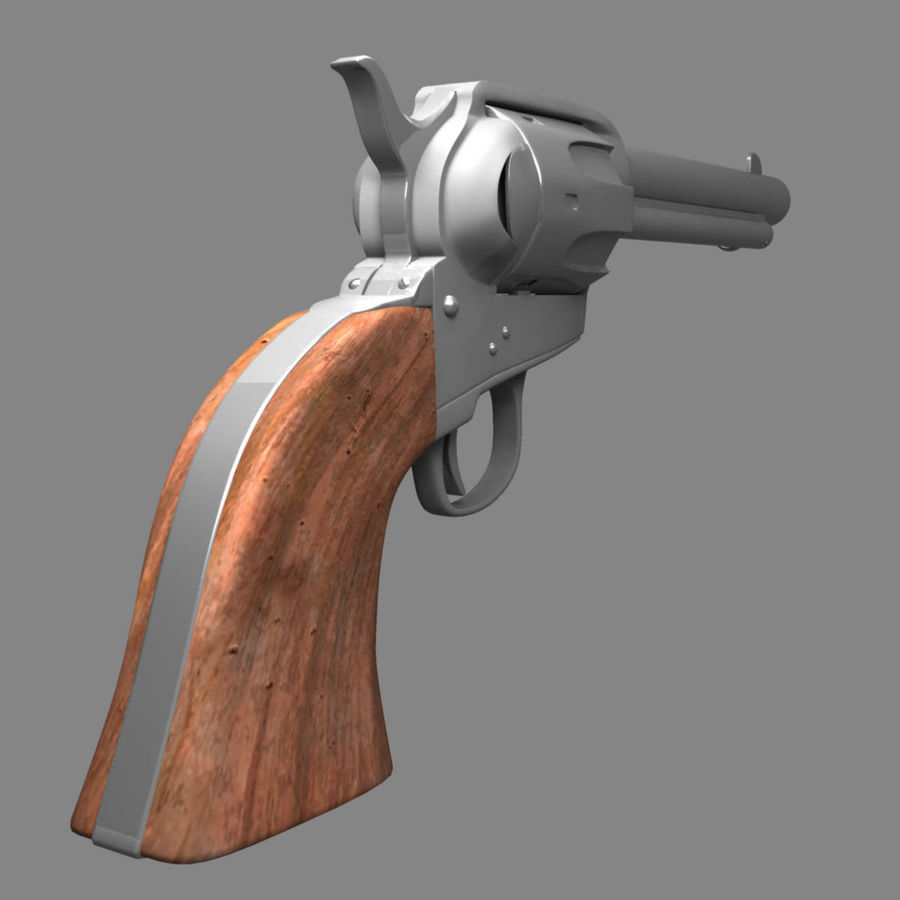 Colt Revolver royalty-free 3d model - Preview no. 6