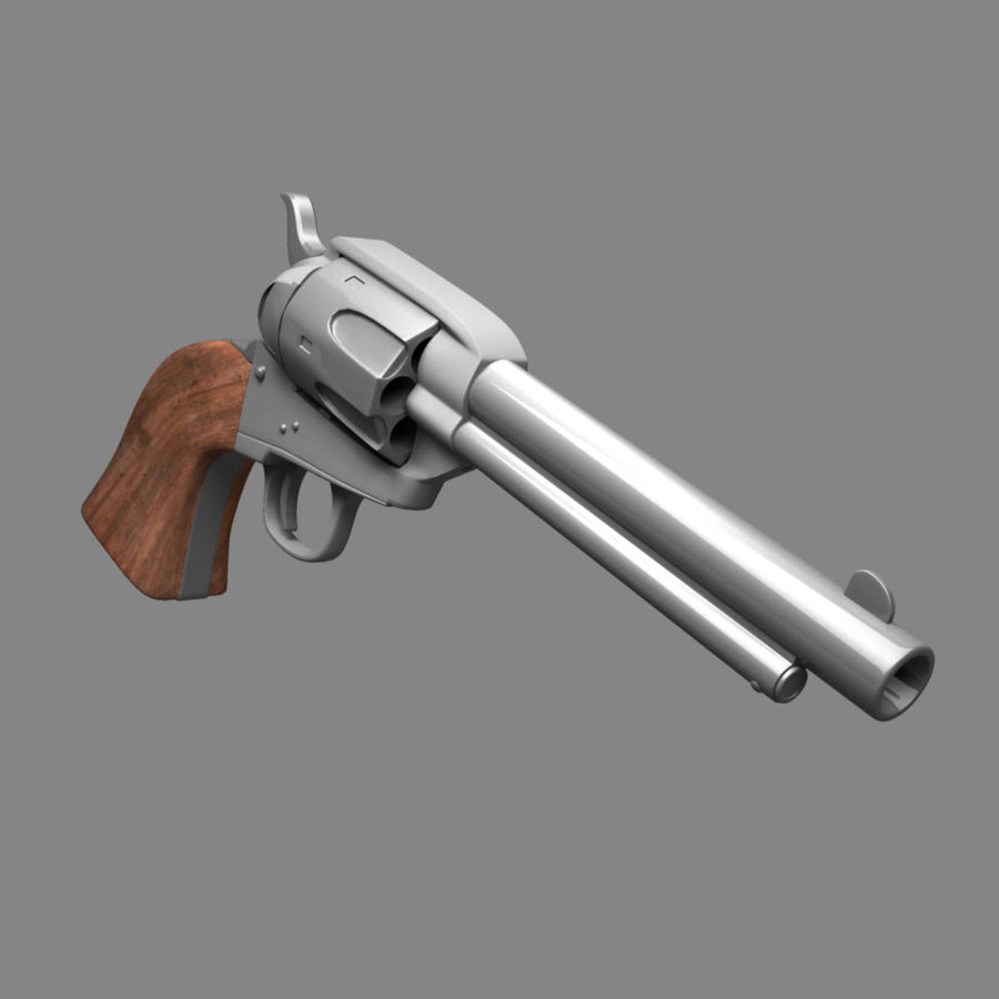 Colt Revolver royalty-free 3d model - Preview no. 8