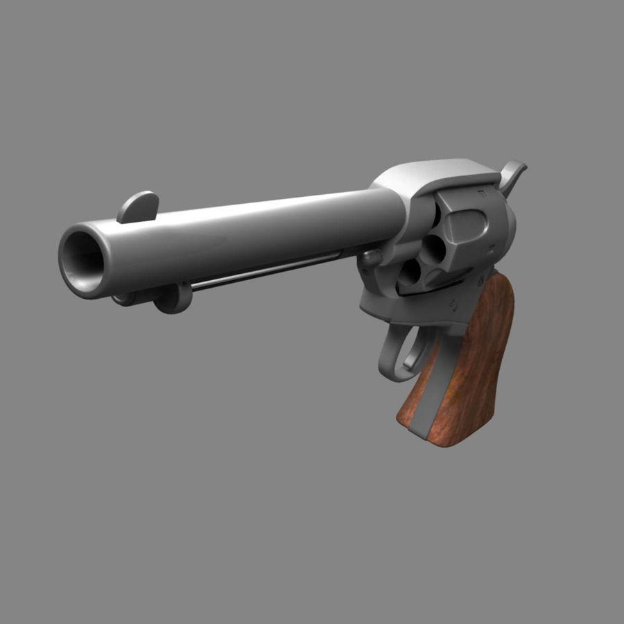 Colt Revolver royalty-free 3d model - Preview no. 9