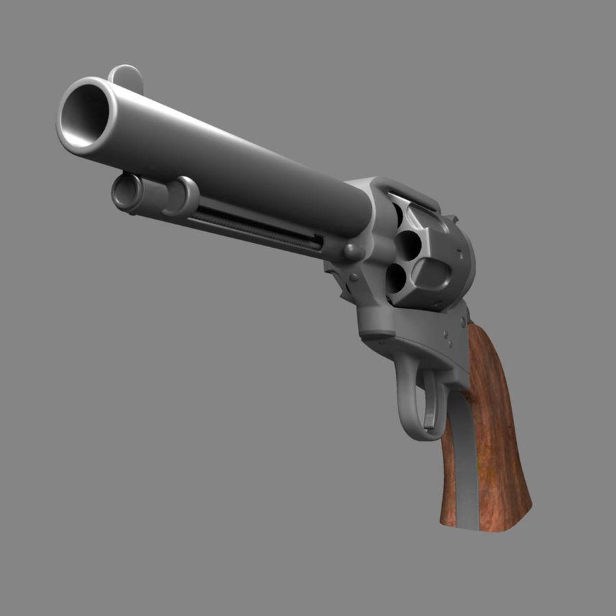 Colt Revolver royalty-free 3d model - Preview no. 10