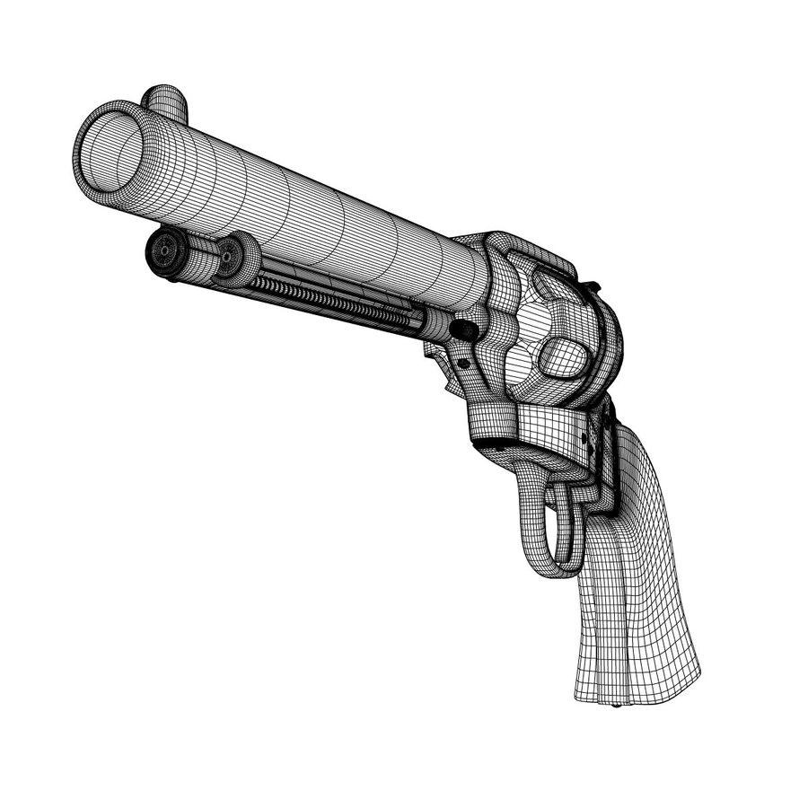 Colt Revolver royalty-free 3d model - Preview no. 4