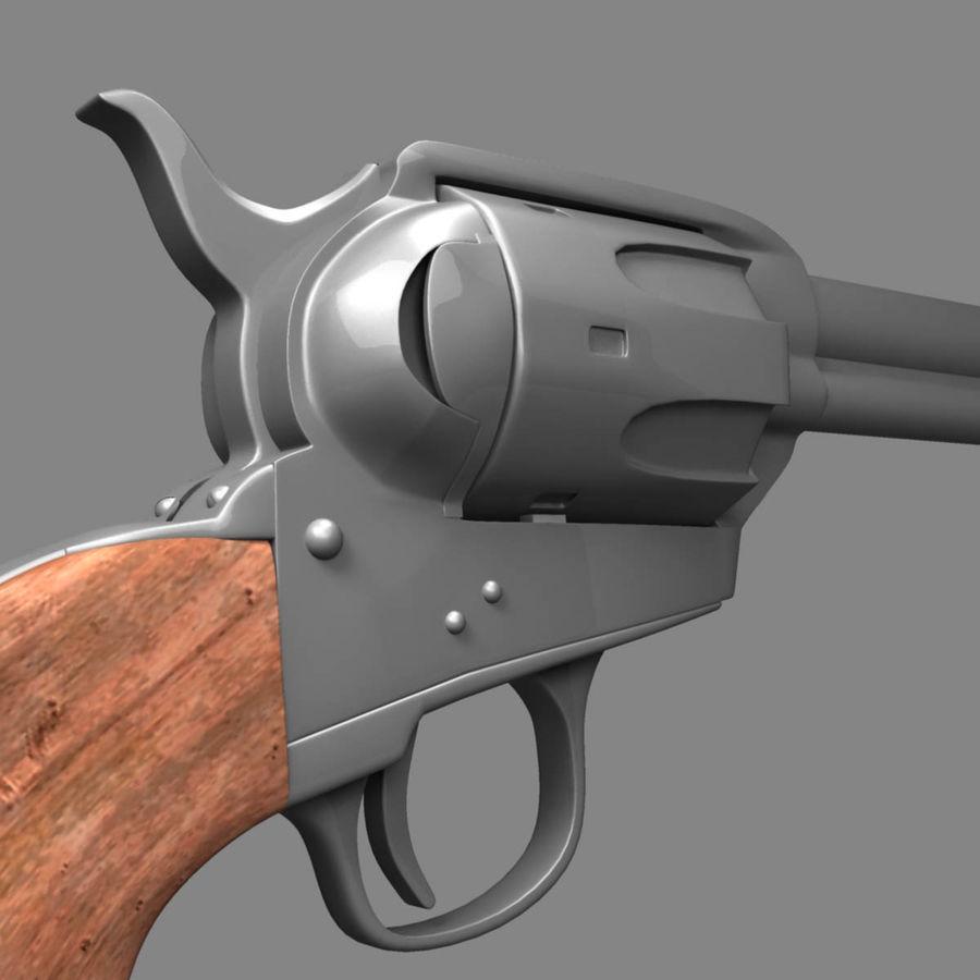 Colt Revolver royalty-free 3d model - Preview no. 3