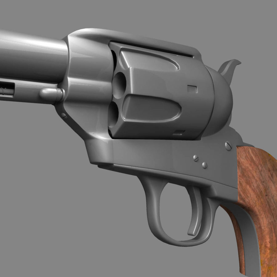 Colt Revolver royalty-free 3d model - Preview no. 11