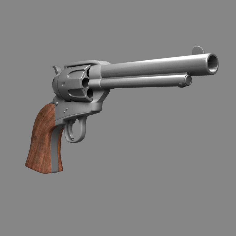 Colt Revolver royalty-free 3d model - Preview no. 7