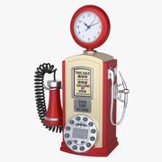 加油站电话 3d model