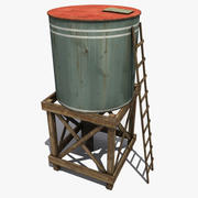 City Water Tower 3d model